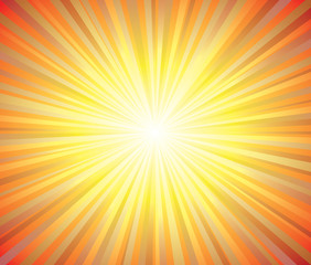 Sun or sunrise Burst Summer Background Vector