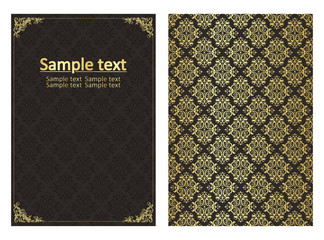 Vintage template vector background for book
