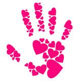 hearts hand - 20077423