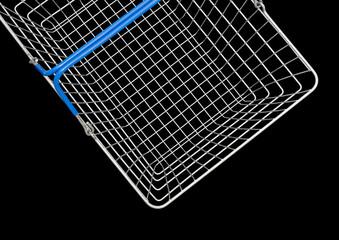 steel wire shopping basket