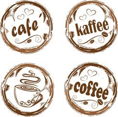 Kaffee, Cafe, Kaffeebohnen, Logo, buttons, coffee