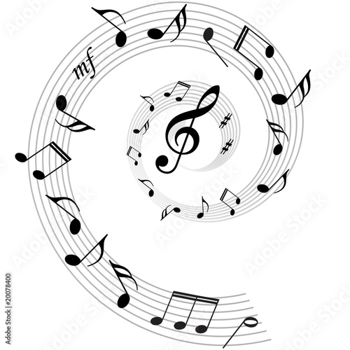 musical notes background. music notes vector ackground