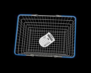 Calculator inside shopping basket