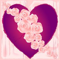 Cuore e rose