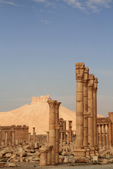 Palmyra ruins and Qala'At Ibn Maan Castle