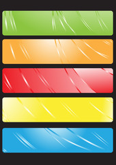 Vector illustration of color banners