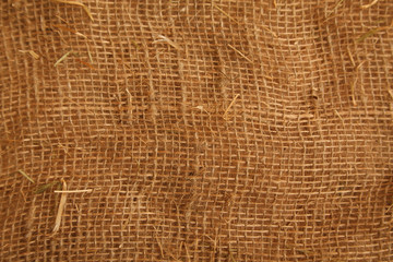 Texture high resolution of brown color of coarse cloth