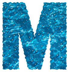 Bubbly Water Font Letter M