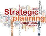 Strategic planning word cloud poster