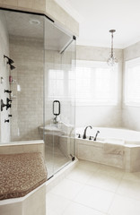 Upscale Bathroom Interior