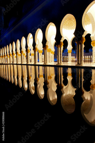 poster of Sheikh zayed mosque in Abu Dhabi, UAE, Middle East