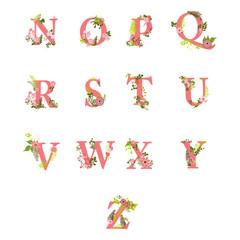 flourish alphabet letters part 2