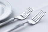 Forks on Dining Table poster