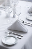 Place Settings on Dining Table poster