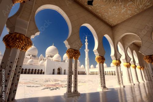 Fotobehang Midden Oosten Scheich Zayed Moschee in Abu Dhabi XX