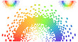 rainbow colored pixel