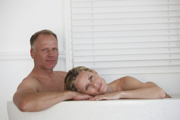 Couple in the bathtub