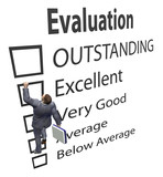 Business Employee Climbs Up Evaluation Improvement Form poster