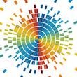 circle of colored Pixels