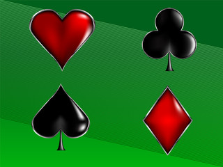 poker card signs