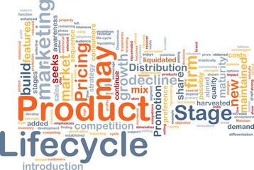Product lifecycle background concept
