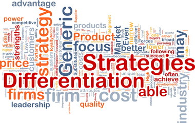 Differentiation strategies background concept