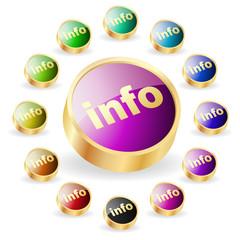 Vector information button set