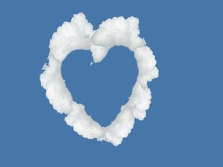 Wolkenherz am Himmel, Valentinstag