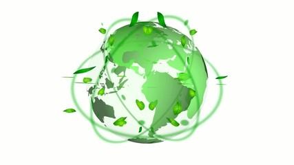 緑の地球イメージ_エコ