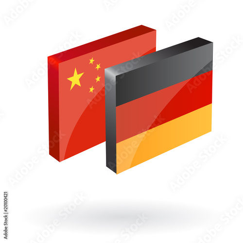 german chinese translation button 3d vector