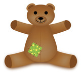 Teddy Bear (cuddly cute toy play children brown) poster