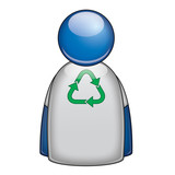 Icono camiseta favor reciclaje poster