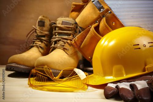 Leinwanddruck Bild safety construction