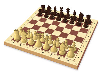 Start of the chess game