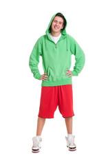 friendly guy in green jumper