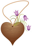 Wooden heart pendant poster