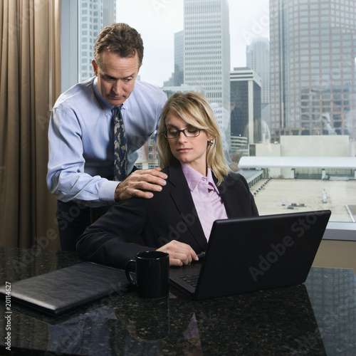 Businessman Annoying Businesswoman