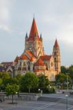 Mexicoplatz church on Danube River poster