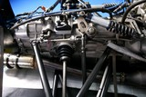 Formula one car engine detail