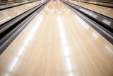 Fototapety Bowling street wooden floor perspective