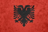 Flag of Albania,  grunge texture poster