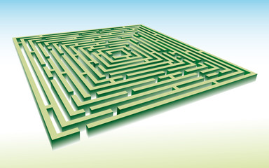 green maze in perspective [CMYK]