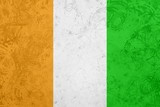 Flag of Ivory Coast grunge texture poster
