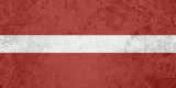 Flag of Latvia grunge texture poster