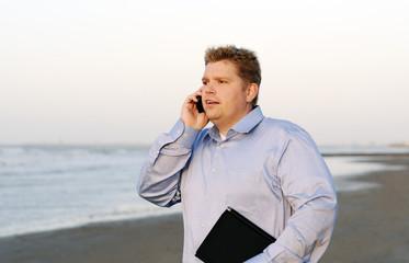 businessman al mare