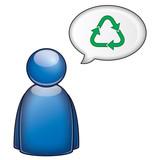 Icono declaracion favor reciclaje poster
