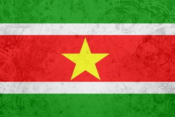 Flag of Suriname grunge texture