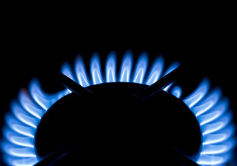 gas flame on stove