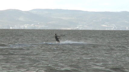 Kitesurfer in action 1