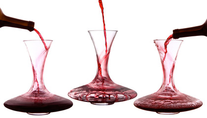 vino in decanter